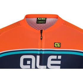 Alé Cycling Solid Vetta Shortsleeve Jersey Herren flou orange-blue-turquoise